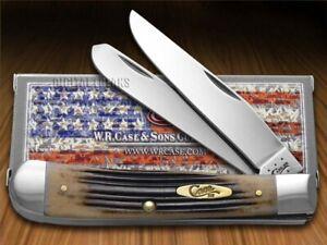 Case xx Trapper Knife Jigged Black Cherry Bone Stainless Pocket Knives 57610