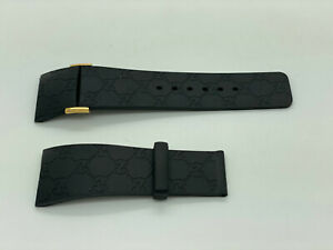 I Gucci 26mm Genuine Replacement Rubber Strap Men's Gucci YA114215 Watch