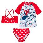 Disney Minnie Mouse Red Polka Dot Deluxe Swimsuit Set Size 2