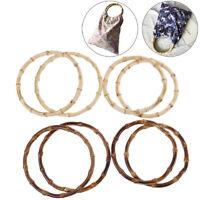 1Pair Round Bamboo Bag Handle for Handcrafted Handbag DIY Bags AccessoriesODUS