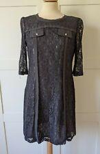 MAGGIE AND ME BLACK LACE MINI SHIFT DRESS SIZE LARGE 12/14 EXCELLENT CONDITION