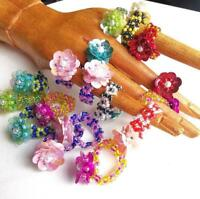 Flower Rings, Beaded, Daisy Design, Kids Rings, Lot of 5,10, 20, Boho Chic