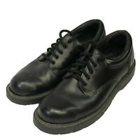 Skechers Men's Work Shoes Slip Resistant Black Leather #4296 Size 8 Oxford