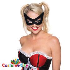 Adults Womens Official DC Comics Harley Quinn Mask Fancy Dress Accessory