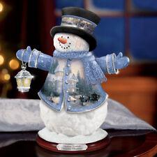 Thomas Kinkade Victorian Christmas Snowman Figurine NEW Gift Holidays Winter