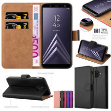 For Samsung Galaxy S10 S20 S9 S8 Plus Stand PU Leather Flip Case Wallet Cover