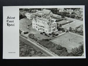 Milford on Sea SOLENT COURT HOTEL & Tennis Courts AERIAL VIEW - Old RP Postcard