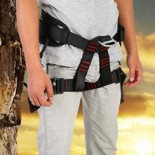 Safety Rock Tree Climbing Rappelling Harness Seat Adjustable Sitting Belt
