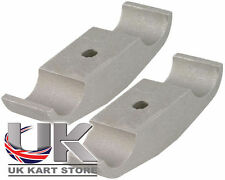 Rotax Max Engine Mount Clamp Bracket 32mm x 92mm Pack of 2 UK KART STORE