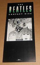 The Beatles Revolver Compact Disc 1987 Promo Original Poster 18x8