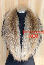 X-Large Natural Winter Dress Women's Genuine Real Raccoon Fur Collar Scarf