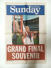 SYDNEY FOOTBALL CLUB 2005 GRAND FINAL SOUVENIR GRATE POSTER BARRY HALL WITH CUP