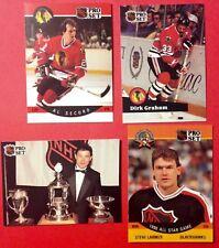 1989-92 Chicago Blackhawks  x4 NHL Hockey Cards  Secord  Graham  Larmer  Belfour