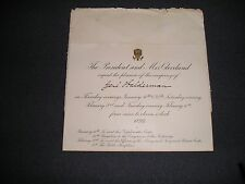 President Grover Cleveland Invitation to Executive Mansion 1894 (B)