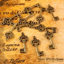 10 Antico Stile Vintage Bronzo Chiave Ciondoli Ciondolo 072