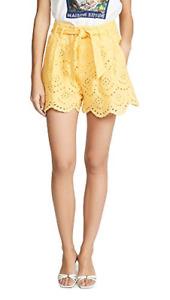 7 For All Mankind Women's Tie Waist Eyelet Shorts Size Medium MSRP: $169.00