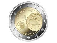 10 * 2 Euro Gedenkmunze BELGIEN 2018 : 50. Jahrestag Satelliten ESRO-2B