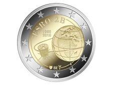 5 * 2 Euro Gedenkmunze BELGIEN 2018 : 50. Jahrestag Satelliten ESRO-2B