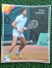 Nos 1980s Vintage Snauwaert Brian Gottfried Tenis Pegatina Pony