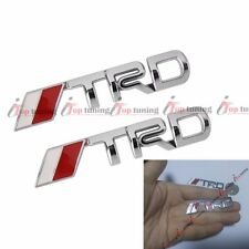 "new2.5"" Pair Metal Chrom TRD Emblem Badge Sticker for Toyota Camry Corolla Yaris"