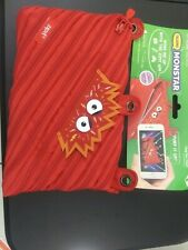 "Zipit Monstar ""Ace"" Red Monster Pencil Case pouch Talking App bag. 3 Ring Pouch"