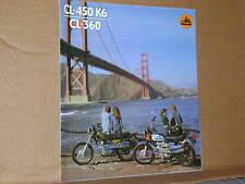 1974 Honda CL450 K6 / CL360 Motorcycle Brochure/Poster - Literature