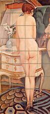 Art Deco La Model Nude Mural Ceramic Bath Tile #46