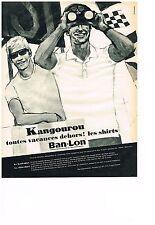 PUBLICITE  1964   BAN-LON   KANGOUROU   les shirts sous vetements