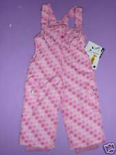Fera Frosty Bib Pants Toddler Girls Insulated Waterproof Ski Free Hat Pink 2