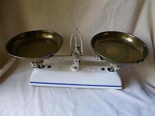 große sehr schöne alte Keramik Küchenwaage 5kg Waage mit 2 Waagschalen antik