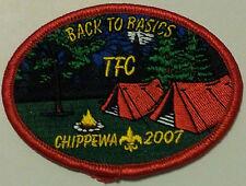 Chippewa 2007, Back to Basics,TFC, BSA Boy Scouts of America Patch/Award