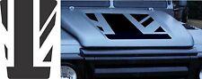 LAND ROVER DEFENDER 90/110 Aftermarket DECAL Bonnet Sticker SET UK Flag Old