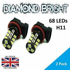 2 X H11 68 SMD CANBUS FOG LIGHT LED BULBS ERROR FREE XENON WHITE H11 FOGLIGHT