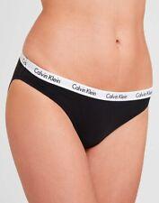 Calvin Klein Ropa Interior Mujer, CK carrusel Bikini Breve, baja altura Panty, Negro