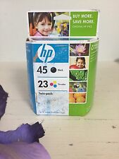 Genuine Original HP 45/23 Black Tri-Color Combo 2pk Ink Cartridges 2009 Exp