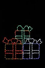 Stack Of Gifts LED metal wire frame outdoor yard display decoration