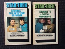 1977/78 STAR TREK Fotonovel Bantam Paperback LOT of 2 FN+/FN #1 & #4