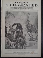 Chicago Pullman Railroad Union Strike Explosion Ammo Frank Leslie's 1894 Print