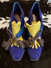Cole Haan Kiltie Booties Rare Color Combo Sz 6