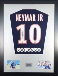 Signed Neymar PSG Shirt In Large Professional Frame