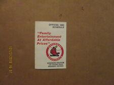 Savannah Cardinals Vintage Circa 1990 Team Logo Pocket Schedule