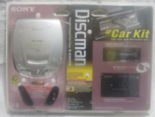 SONY Discman ESP2 Portable CD Player + Headphones w/ CAR KIT - D-E206CK + AVLS