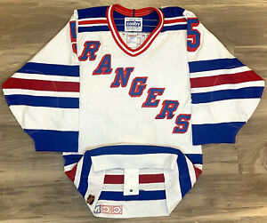 New York Rangers Ulf Samuelsson NHL Hockey Jersey Authentic Center Ice CCM Retro