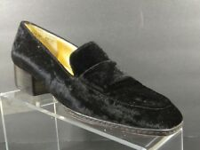 Apostrophe Women's Black Suede Oxfords Slip On Dress Shoes Loafers Size 9 M
