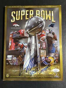 Von Miller Signed Super Bowl 50 Program INSCRIPTION Denver Broncos JSA