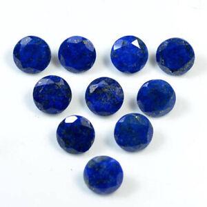 10 Pcs Natural Lapis Lazuli 4mm Round Faceted Cut Loose Gemstone