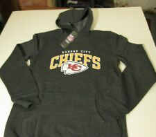 KANSAS CITY CHIEFS PULLOVER HOODED SWEATSHIRT YOUTH SIZE LARGE (14-16)-GRAY- NWT