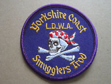 Yorkshire Coast LDWA Smugglers Trod Walking Hiking Cloth Patch Badge (L3K)