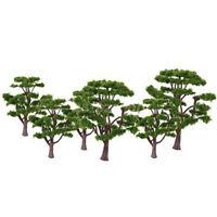 10pcs 10cm Trees Model Building Park Landscape Railroad Scenery Layout Decor