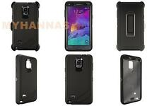Samsung Galaxy Note 4 Defender Shockproof Hybrid Protector Case Belt Clip box